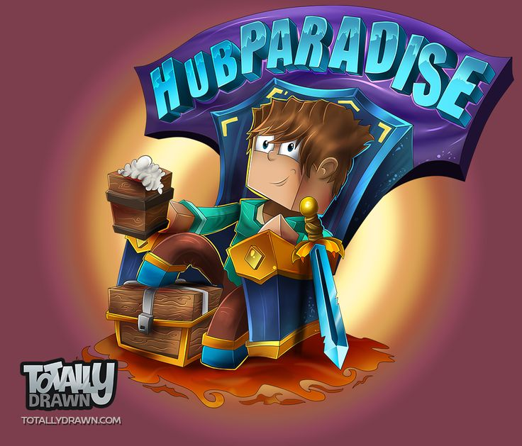 minecraft_server_logo__hubparadise_by_totallyanimated-d9geabr.png (1021×873)