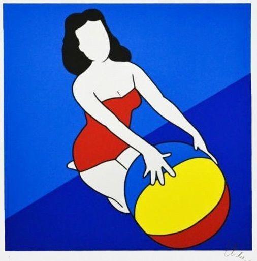 LODOLA MARCO - Pin Up - Serigrafia a colori - FORMATO FOGLIO - 35 x 50 cm