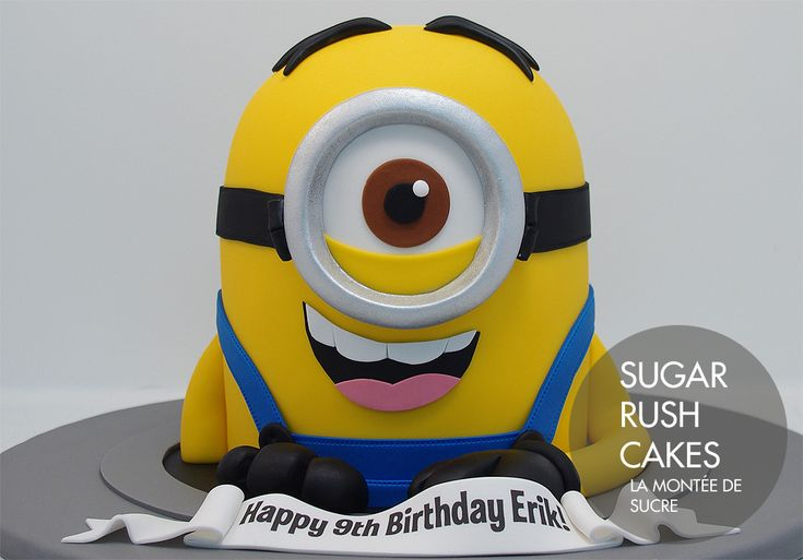 Despicable Me Stuart Minion cake