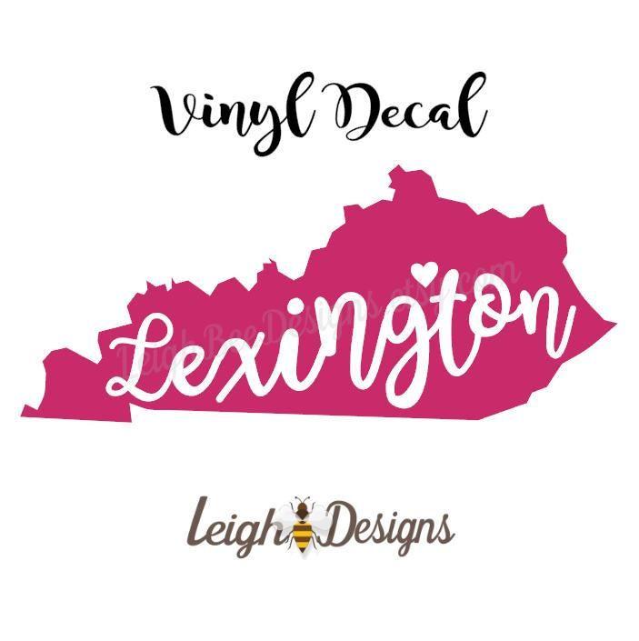 Lexington kentucky state vinyl decal car decal vinyl decal laptop decal vinyl sticker yeti deca