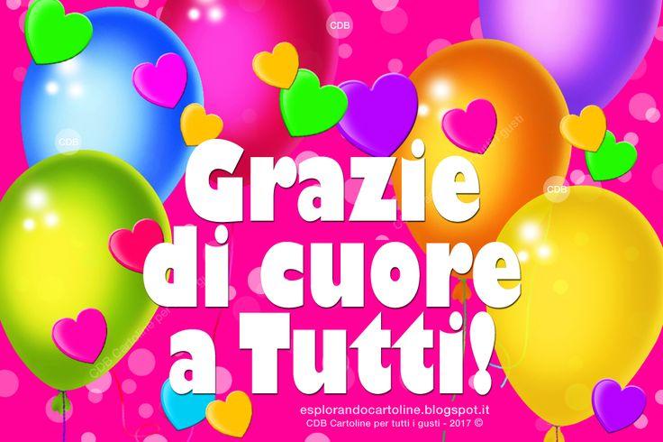 CDB CARTOLINE Compleanno per Tutti i Gusti! : Cartolina - Grazie di Cuore a Tutti! - Con Immagin...