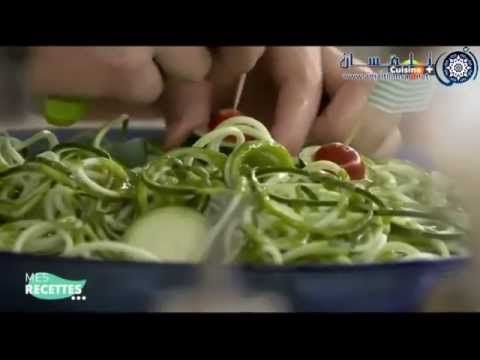 recette spaghetti de courgette et herbes fresh