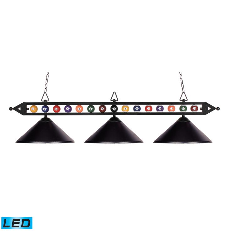 gameroom lighting. sleek black billiard table light with balls gameroom lighting