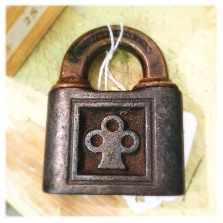 Vintage Lock Clover Lockless Monster Door Padlocks