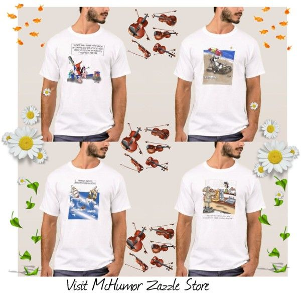 Funny, cool cartoon t-shirt. Take a look at McHumor Zazzle Store.  McHumor Funny T-Shirt Design by ziernor on Polyvore featuring art