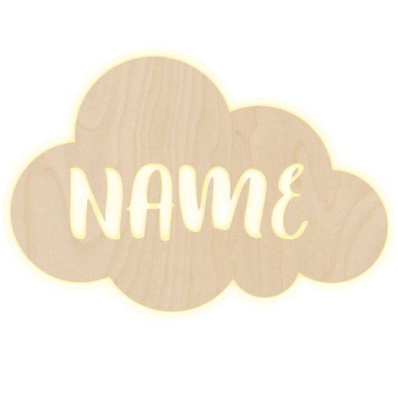 Wall Lamp Cloud Nursery Personalized Lamp With Name Night Light Light Wall Lamp Decoration Boys Girl Baby Snooze Light Wall Lamp Night Light Lamp Decor