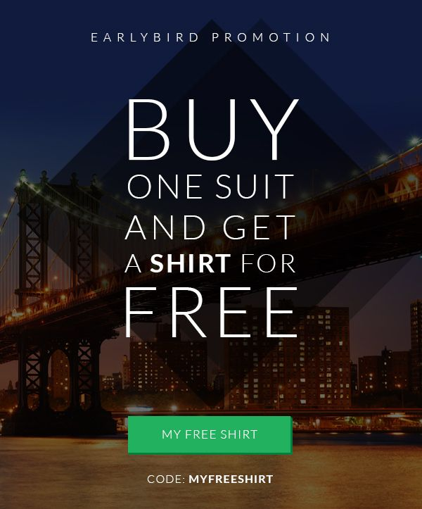 Buy 1 Suit and Get a FREE SHIRT: http://tailor4less.com Use the code: MYFREESHIRT