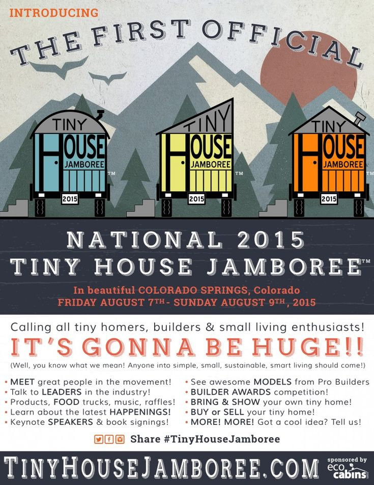 """Learn more about the tiny house movement at the first official Tiny House Jamboree to be held this summer in Colorado Springs CO. Event date is August 7th – 9th 2015. http://tinyhousejamboree.com Once you've discovered tiny house living, contact us to let us design your dream """"tiny"""" living space."""