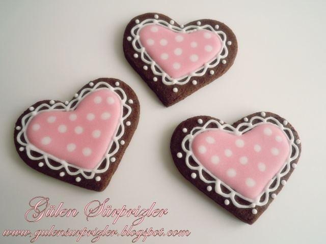 Pink baby girl cookies