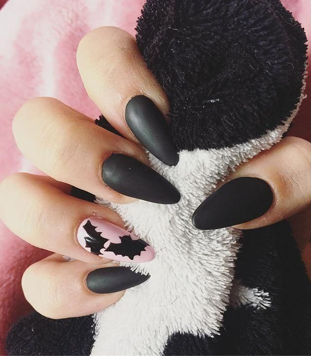 60 Halloween Nail Art Ideas Goth Nails Halloween Acrylic Nails Gothic Nails