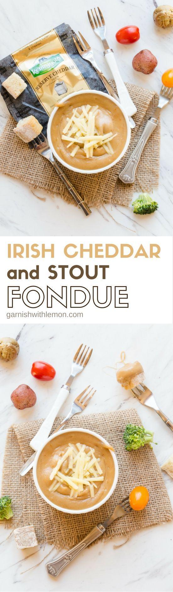 """Nichts schreit """"Party"""" wie Fondue, und dieses irische Cheddar und Stout Fondue wird der Hit Ihrer St. Patrick's Day Bash sein!"""