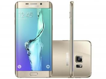 """Smartphone Samsung S6 Edge+ 32GB Dourado 4G - Câm. 16MP + Selfie 5MP Tela 5.7"""" Quad HD Octa Core"""