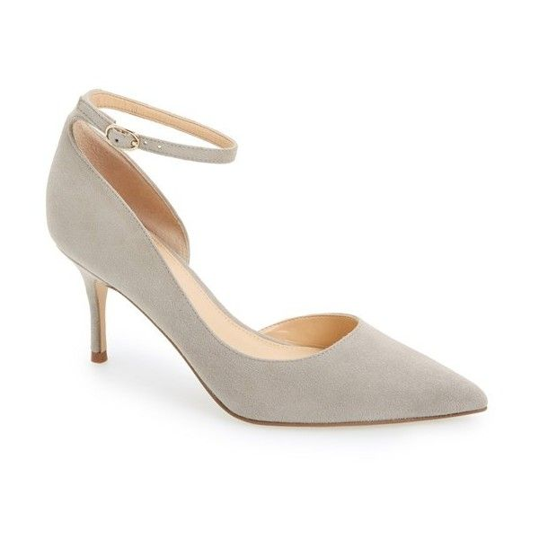 Ivanka Trump 'Brita' Ankle Strap Pointy Toe Pump, 3