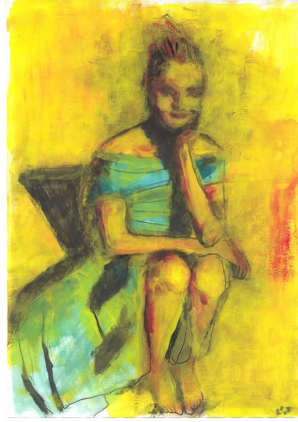 yellow pages (tempera) by diogenis papadopoulos, via Behance