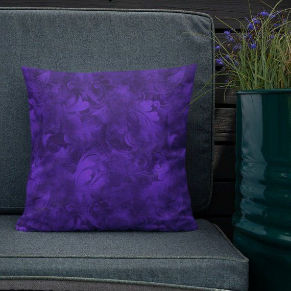Purple Abstract Premium Pillow Royal Purple Throw Pillow Vivid