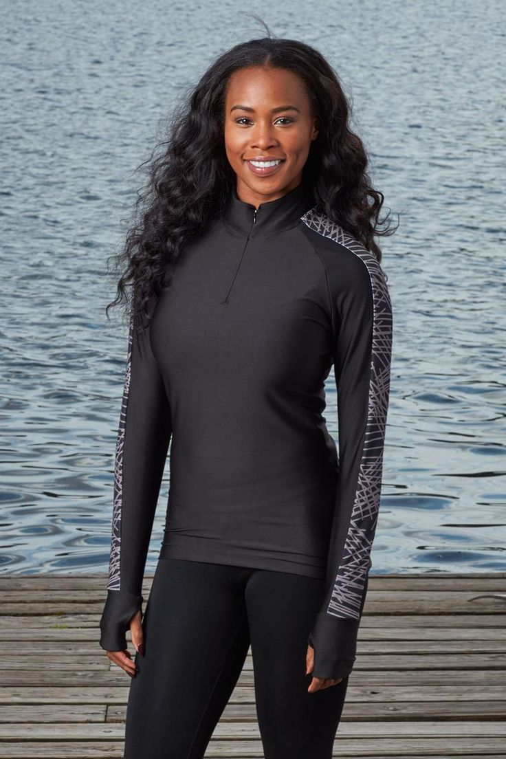 Womens Quarter-Zip Compression Top | Athletic Apparel | Workout | #boathouse