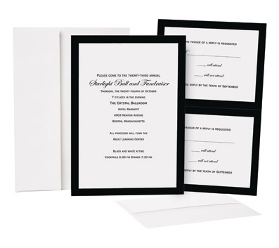 Great Papers Black Border Invitation Kit By Office Depot U0026 OfficeMax