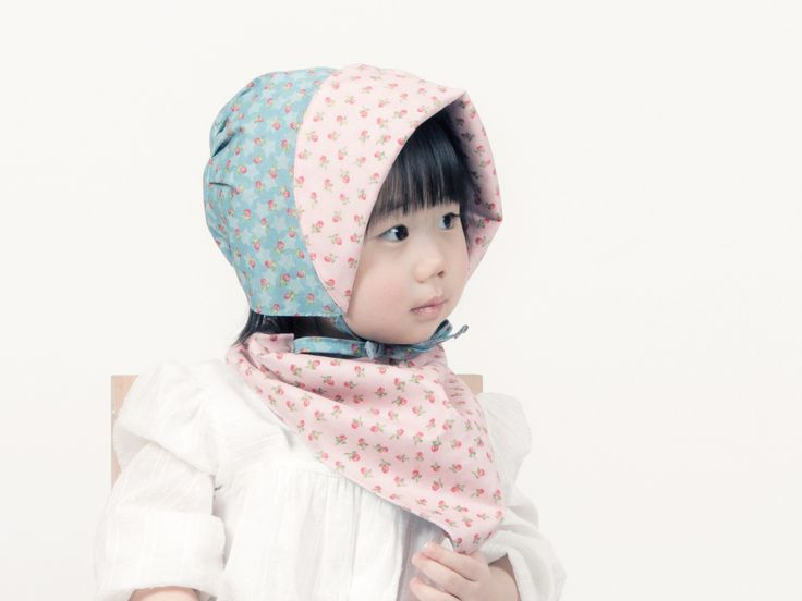 Girls Reversible Bonnets (up to 24 months)