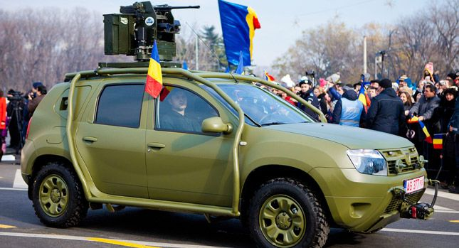 Bulletproof Dacia Duster Army Vehicle Is a Budget Humvee-Wannabe - Carscoops