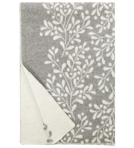 MISTELI - MISTLETOE Woolen Throw Blanket - Nordic Interior Design
