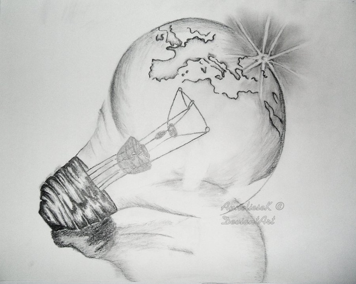 """Light Bulb - pencil  """"It's better to burn out than fade away..."""""""