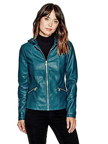 GUESS Women's Krysta Faux-Leather Bomber Jacket