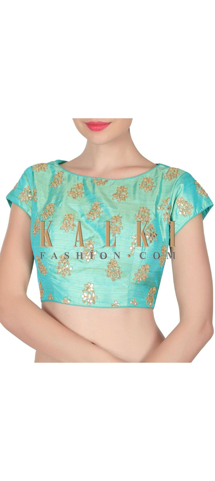 Buy this Turq blouse adorn in gotta patch work only on Kalki