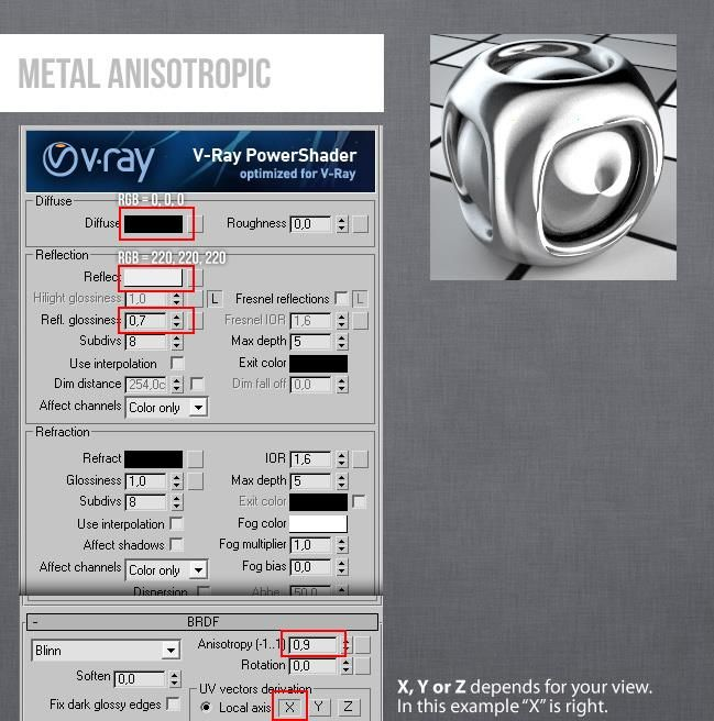 Vray 3Ds Max Metal Antisoptric