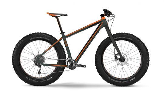 #Bicicleta #MTB #Hardtail #Haibike Fatcurve 6.10  Fatcurve 6.10 este un #fatbike simplu, cu #furca rigidă, echipat cu 2 #foi și 10 #pinioane