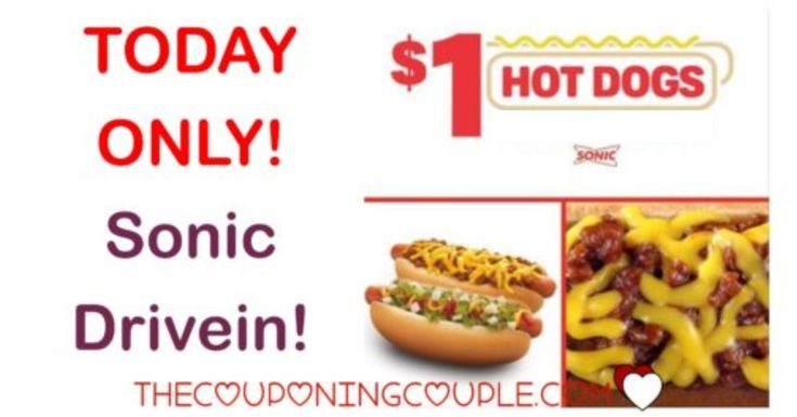 WOOHOO! I am LOVING this deal at Sonic! Get a HOT DOG for only $1.00! I love the Chili Cheese Coney!  What a deal! Don't miss out!  Click the link below to get all of the details ► http://www.thecouponingcouple.com/sonic-drive-in-special/ #Coupons #Couponing #CouponCommunity  Visit us at http://www.thecouponingcouple.com for more great posts!