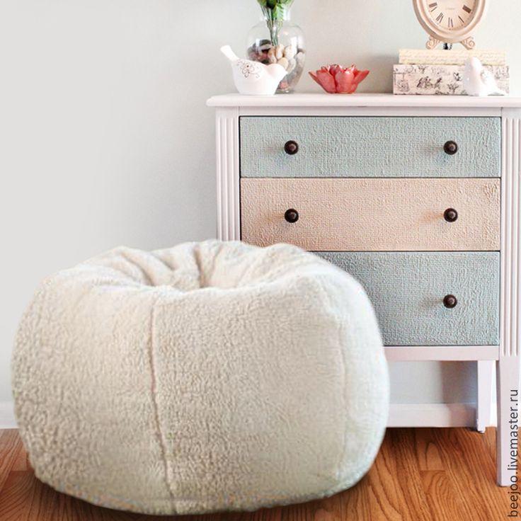 Купить Кресло-пуф. Белый - белый, мыгкий, пуф, кресло, подушка, кресло груша