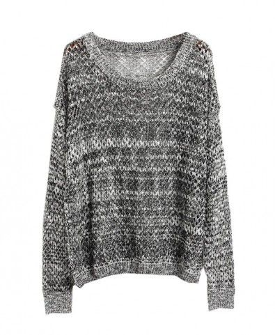 Loose Knit Sweater in Color Block