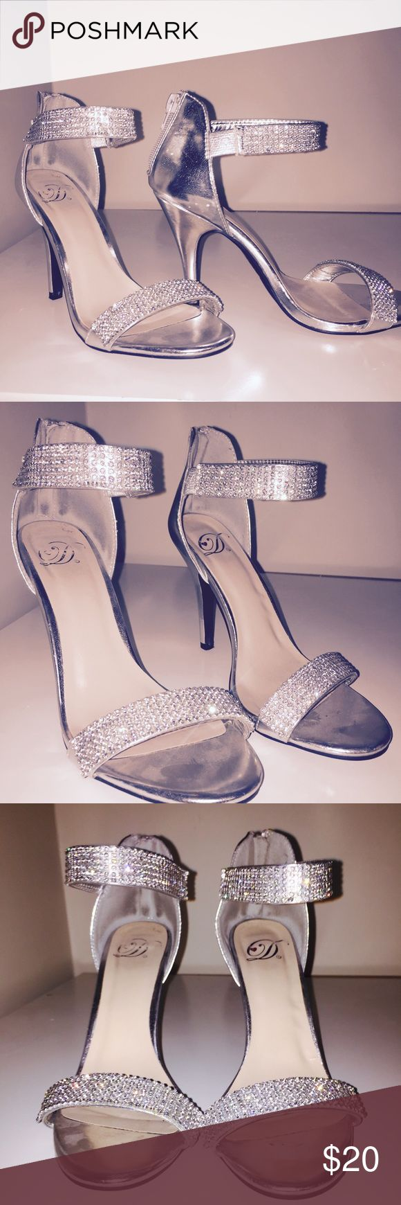 Prom Heels Let me know if you have questions. Wore twice, once for homecoming and last with Prom.  Shoes Heels