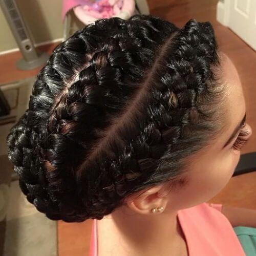 Side To Center Braided Updo Goddess Braids Hairstyles