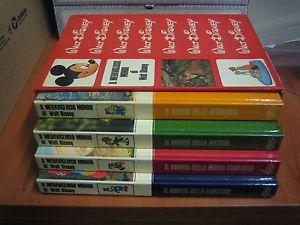 Cofanetto Il Meraviglioso Mondo di Walt Disney - Mondadori (1969) 4 volumi illustrati: - Il mondo dell'avventura - Il mondo della natura - Il mondo della nuova frontiera - Il mondo della fantasia