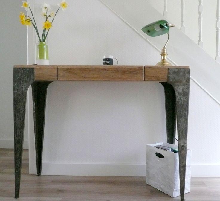 La console bureau gazelle de quatr 39 a avec ses 2 tiroirs for Console de bureau
