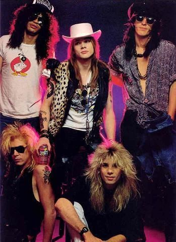 Guns N' Roses - Duff Mckagan, Slash, Axl Rose, Steven Adler & Izzy Stradlin