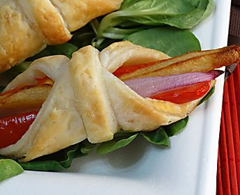 Cestini alle verdure, antipasti con pasta sfoglia