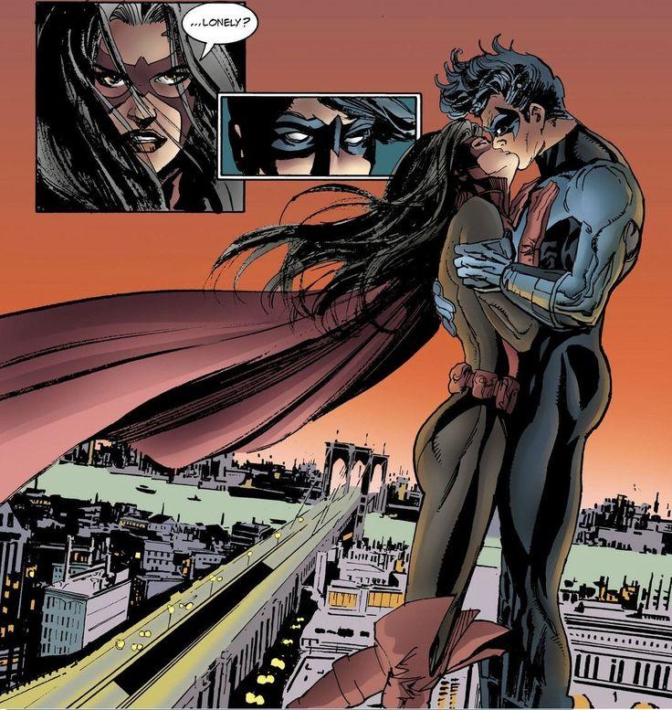 Nightwing kissing Huntress | Comic Book Art | Pinterest ...