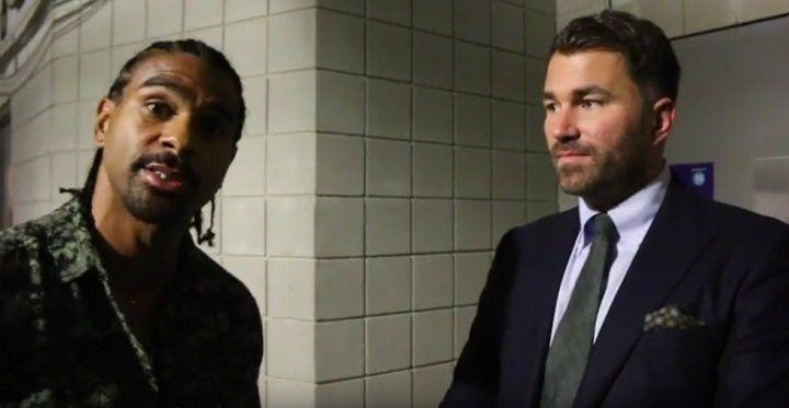 Hearn talks Dereck Chisora vs. Joe Joyce fight #DavidHaye #DerekChisora #allthebelts #boxing