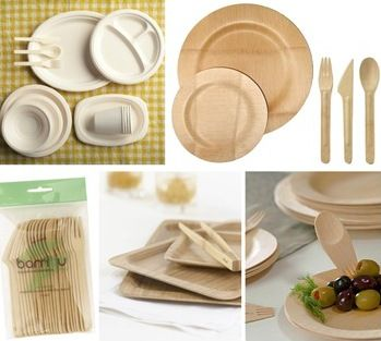 bamboo environmentally friendly disposable tableware