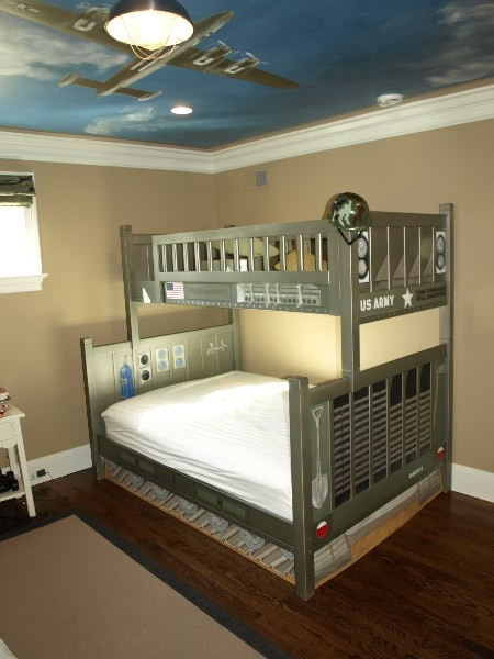 just paint color for Hunter's room to match his Hunter green bunkbed