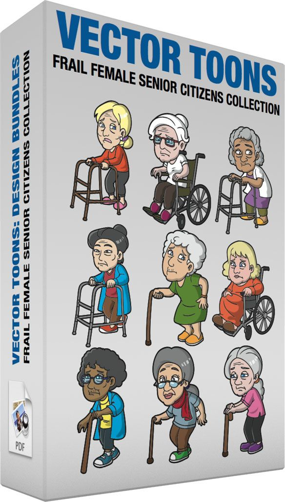 Frail Female Senior Citizens Collection :  Bundle of images includes the following:  A surprised old woman with a walker An old female person with blonde hair tied in a low bun wearing a pair of pearl earrings red orange sweater gray pants pink shoes parts her lips while holding a brown walker to help her move  A weak old woman in a wheelchair A sad looking old woman with white hair tied up in a bun wearing a pair of red eyeglasses white shirt brown pants and fuchsia slippers sitting on an…