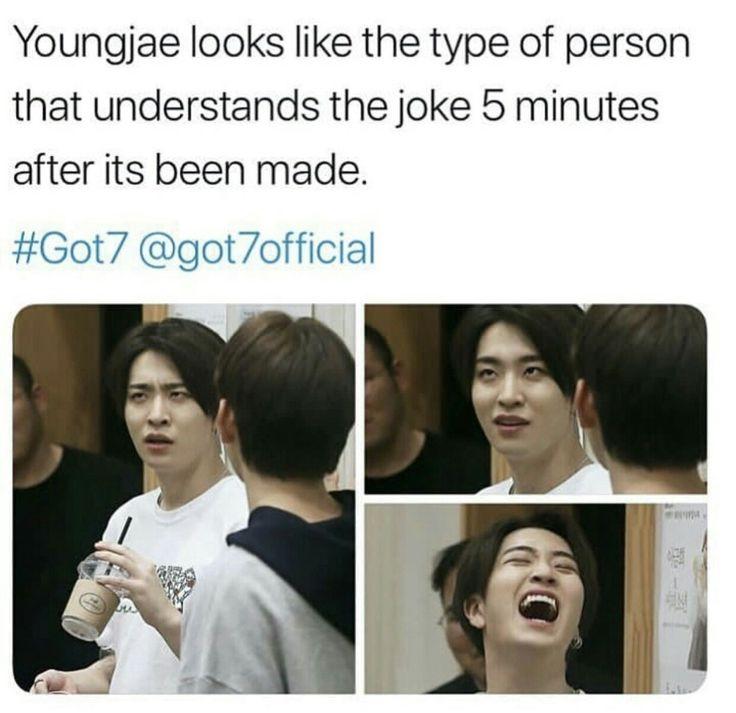 He is so cute #Youngjae #Got7meme #kpopmeme