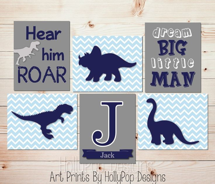 Kids room decor Toddler boy bedroom art Dinosaur nursery art Navy Blue gray wall decor Dream big little man Baby boy nursery wall art SET OF 6 UNFRAMED ART PRINTS #1515. 6 UNFRAMED Art prints printed on a professional grade photo paper. Perfect for a dinosaur themed nursery! Prints size 8x10 or 11x14 come with a thin white border around stated print size and will be shipped in a flat mailer. Prints sized 12x16 and 13x19 are borderless and will be shipped in a tube mailer. Each piece is...