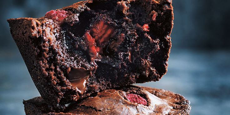 Fudgy Chocolate Puddings with Raspberries - Lifestyle FOOD