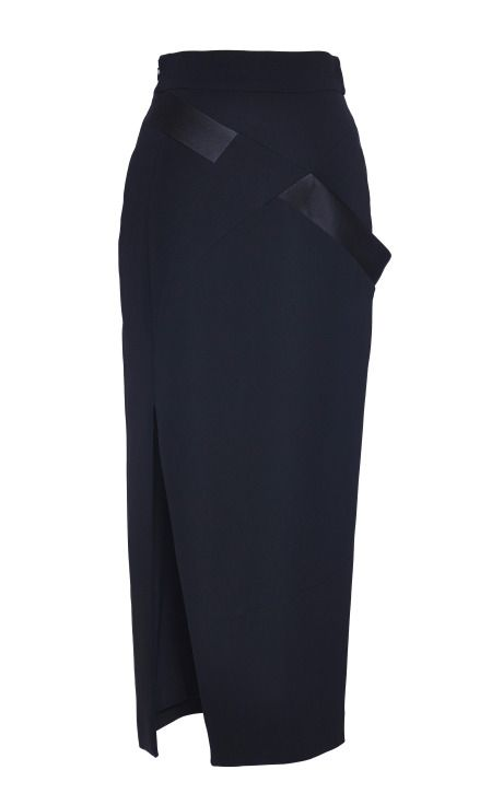 Black Long Pencil Skirt by Antonio Berardi for Preorder on Moda Operandi