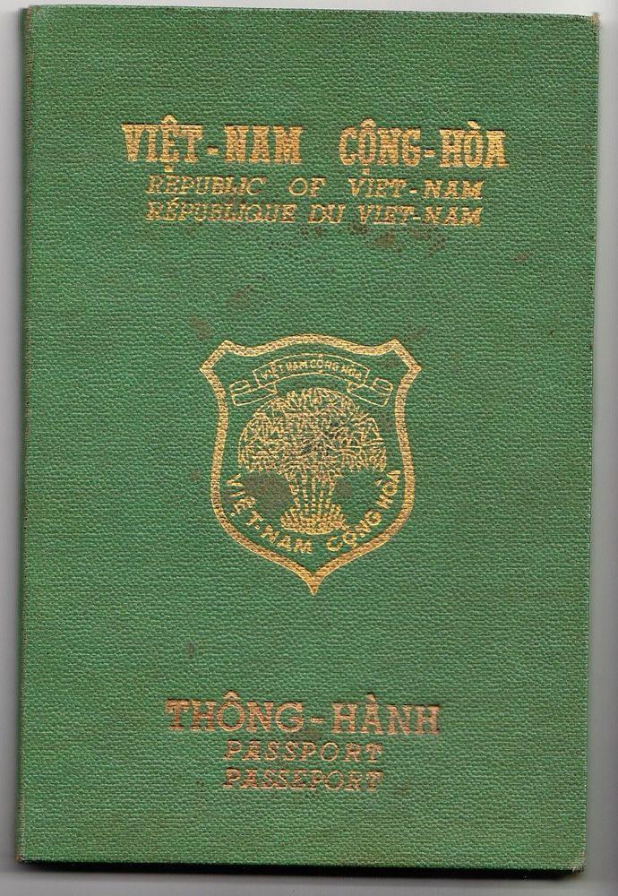Republic of Vietnam (Vietnam South) Old passport 1969 rare