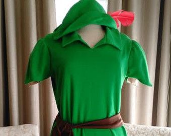 Peter Pan traje imitación gamuza zapatos o Elf Robin por Petiteleon