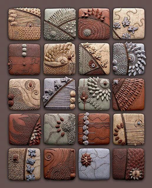 Chris Gryder, piastrelle di argilla polimerica  Chris Gryder, polymeric clay tiles  www.chrisgryder.com/